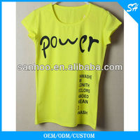 2013 Most Popular Oem O-Neck Women T Shirt Free Sample