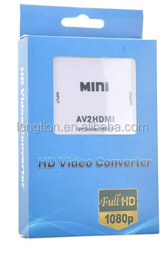 New Brand Mini HDMI2AV to RCA HD Video Audio AV CVBS Adapter Converter 1080P