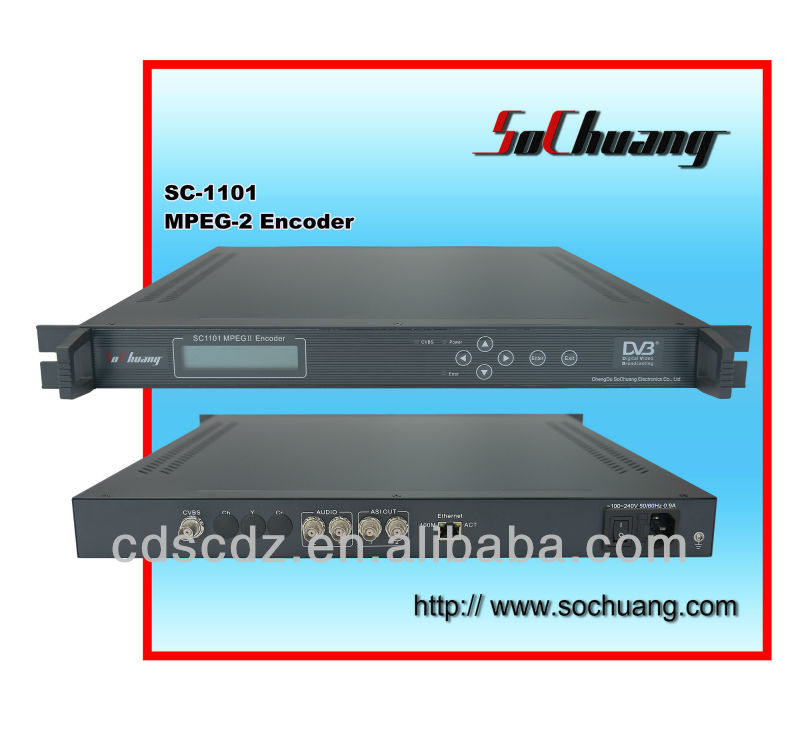 Encoder ( 1 AV in, 1 ASI out) /Digital Cable TV Headend MPEG-2 Encoder