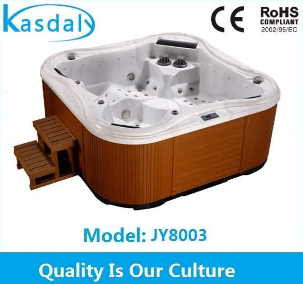 Factory outdoor swimming pool sex Japan massage sex video TV hot tub combo for 5 person