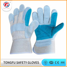 BC Grade 10.5 inch Reinforced Palm Cow Split Leather Welding Gloves For Industrial Use