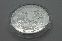Customized 1 oz Australia silver replica coins manufacturer