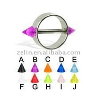 Acrylic Cone Shaped Nipple Ring Body Piercing Jewelry