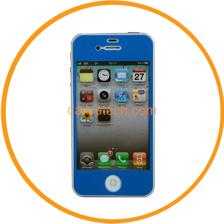 Full Body Clear Color LCD Screen Protector Film Skin Guard For iphone 5 5G Blue from Dailyetech