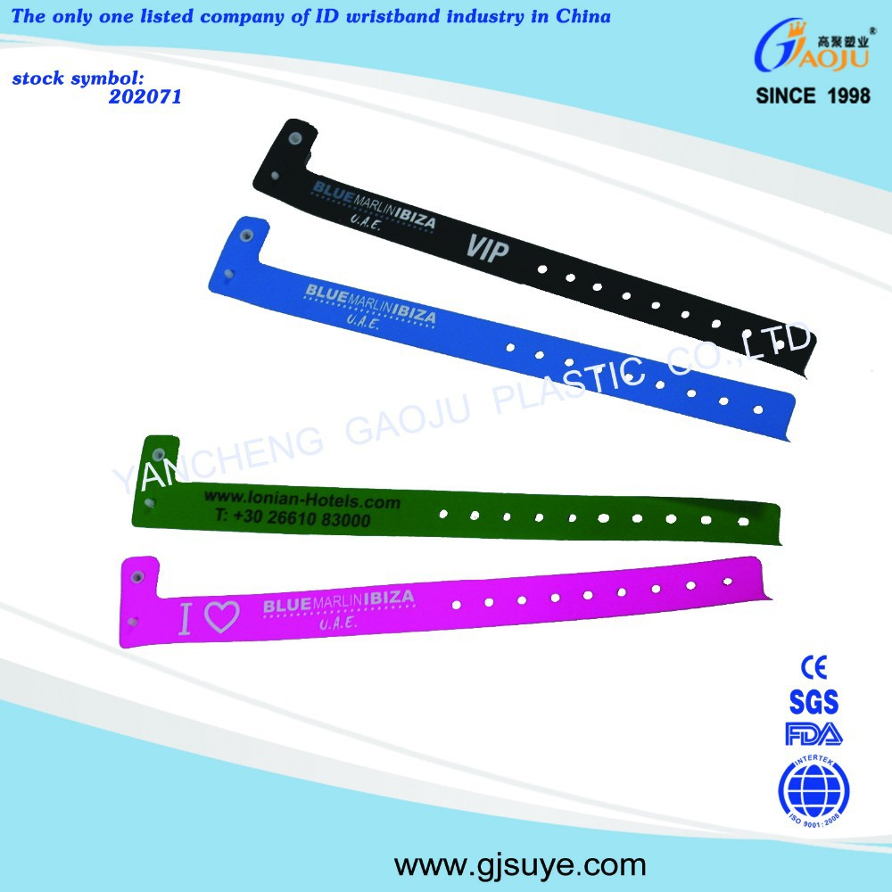 GJ-8070-20 wide promotion plastic wrist band