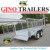 heavy duty tandem bogie steel cage trailer GN-BT85W