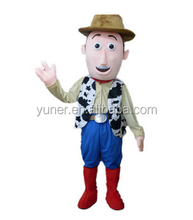 Custom plush cartoon charactors men farmer mascot costume