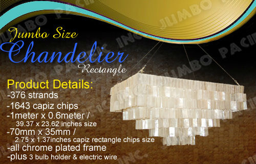 jumbo Capiz Shell Chandellier Product