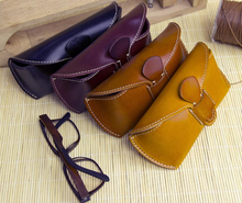 High quality vintage hard leather eyeglass cases, wholesale eyeglass case