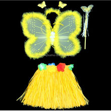 yellow butterfly wing for Hawaiian dance