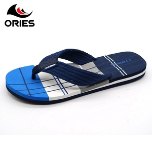b032833d7dc3 Lattice decoration Eva outsole manufacture textile soft thong indoor  slippers for men