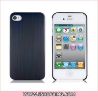 KHE Laser Drawing Line IMD Hard PC Protective Case for iphone 4 & 4S Black