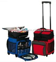 Trolley insulated cooler bag, picnic bag