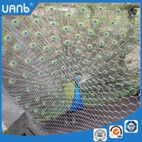 Green coated hexagonal wire mesh / lowes chicken wire mesh roll for sale