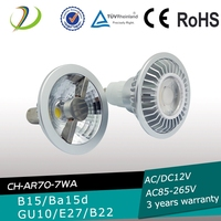 Dimmable COB 7w led spotlight ar70 ba15d halospot led 12v