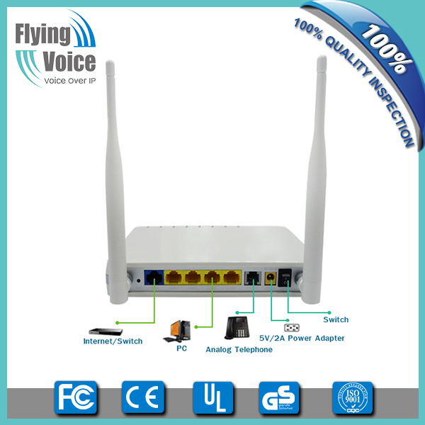 1 fxs voip phone wireless adapter with 5 rj45 router support TR069 G801