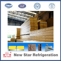 Cold room corrugated pu polyurethane sandwich roof panel with cam lock