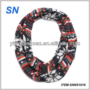 Custom oem fashion hot sell infinity round scarf