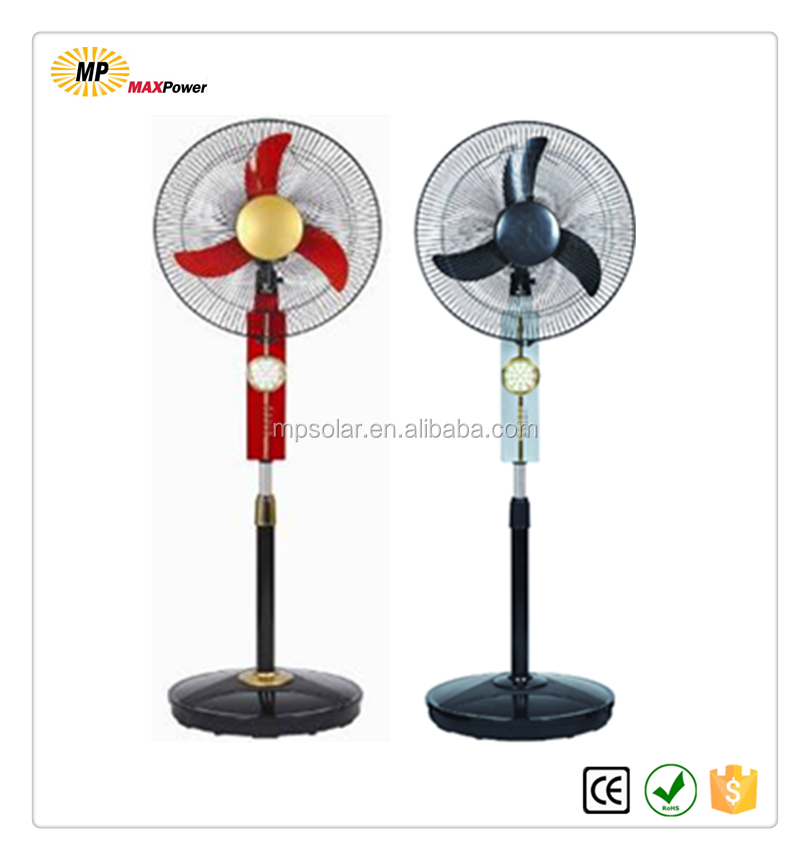 2016 hot sale rechargeable solar fan with lithium battery