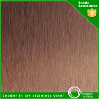 bronze finish decorative stainless steel sheet for metal building materials