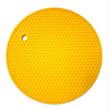 eco-Friendly Silicone Material Silicone Pot Holder / Honeycomb shape Silicone Trivet