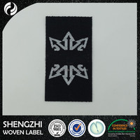 lowest price personalized woven labels/ name brand tag printing