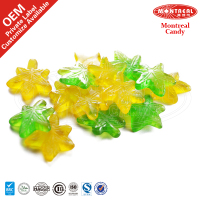 Maple leaf fruit chewy soft candy