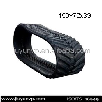 Replacement Manufacture in China rubber crawler,rubber track,rubber belts size 150x72x39