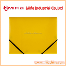 A4 plastic 3-Flap File folder with Elastics Closure,