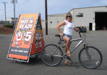 billboard advertising flex banner sizes for advertising bike trailer