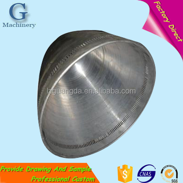 Customized Drawing Part Stainless Steel Lamp Cover Shell for Housing Lighting