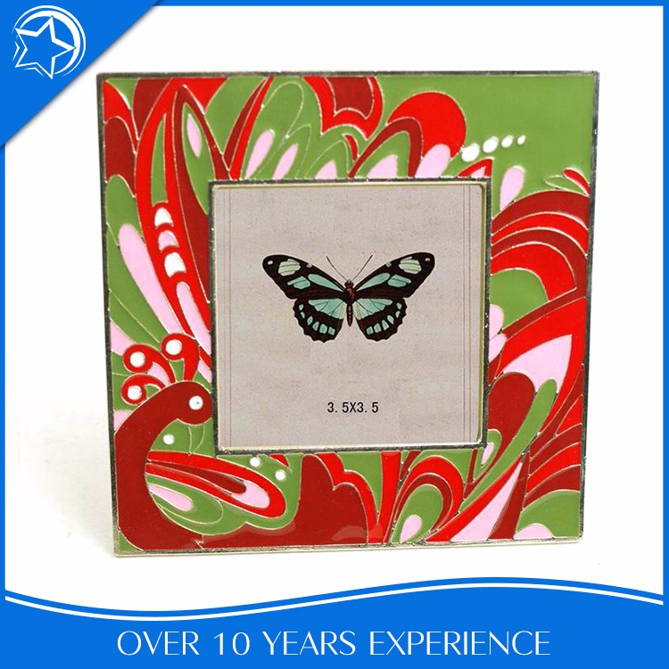 Peacock 3.5x3.5 Square Table Chinese Style Picture Frame