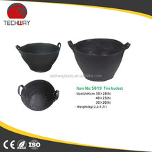recycled rubber buckets tubs strong rubber trough with two handles