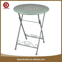 Round snowflake desktop iron folding dining tables