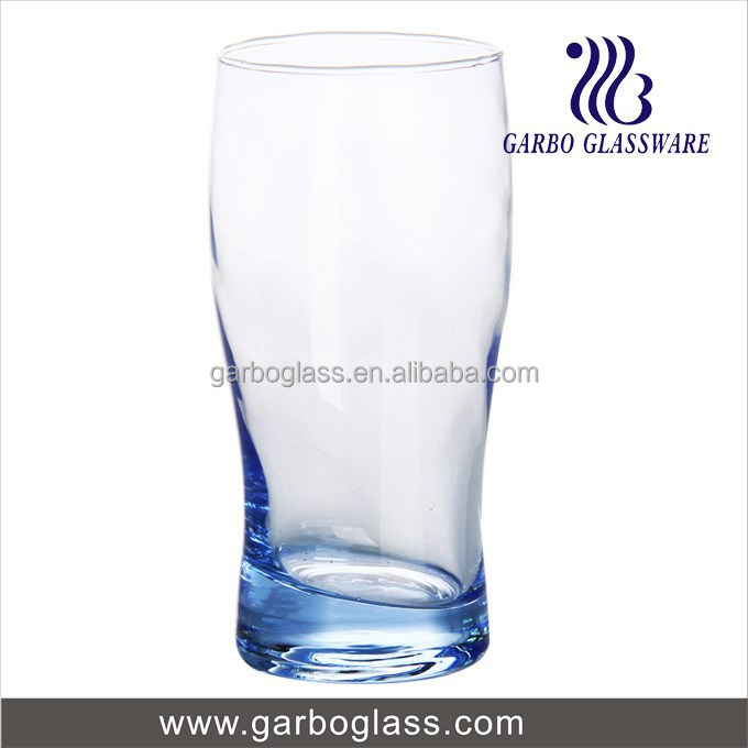 blue stylish beer glass/ solid color beer glass