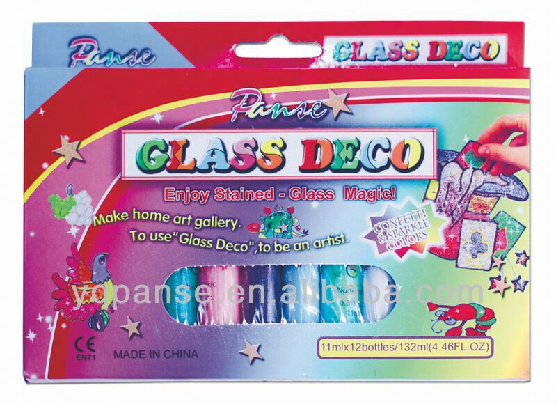 hot selling new design fashionable glass deco/ window glue for kids