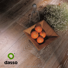 Oak flooring Wide plank white washed rustic/anqitue hand scraped oak engineered wood flooring