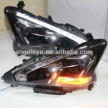 2013-2014 Year NISSAN Teana LED Head Lights with Bi Xenon Projector Lens TLZ