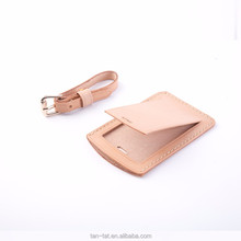 Genuine Leather Luggage Tag Travel Gift Bag Charm