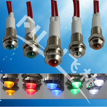 100pcs/lot low voltage led magnetic field indicator with wire
