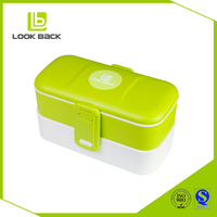 New Style Two Layer Colorful cartoon lunch box