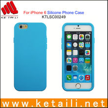 Solid-colored silicone case for iphone 6 made in China factory