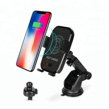 Newest 10W Fast Qi Wireless charger Touch Sensor Car Mount Air Vent Clip Phone Holder
