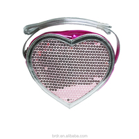 OEM Top Selling Heart Shaped Glitter Young Lady Bag