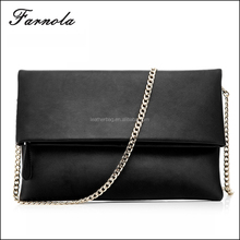 2016 latest fashion leather hand bags metallic ladies clutch envelope women clutch bag