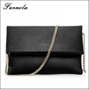 2017 Newest fashion leather hand bags metallic ladies clutch envelope clutch bag for women