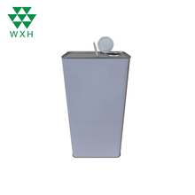 5L white coating metal tin cans,closed lubricant square can