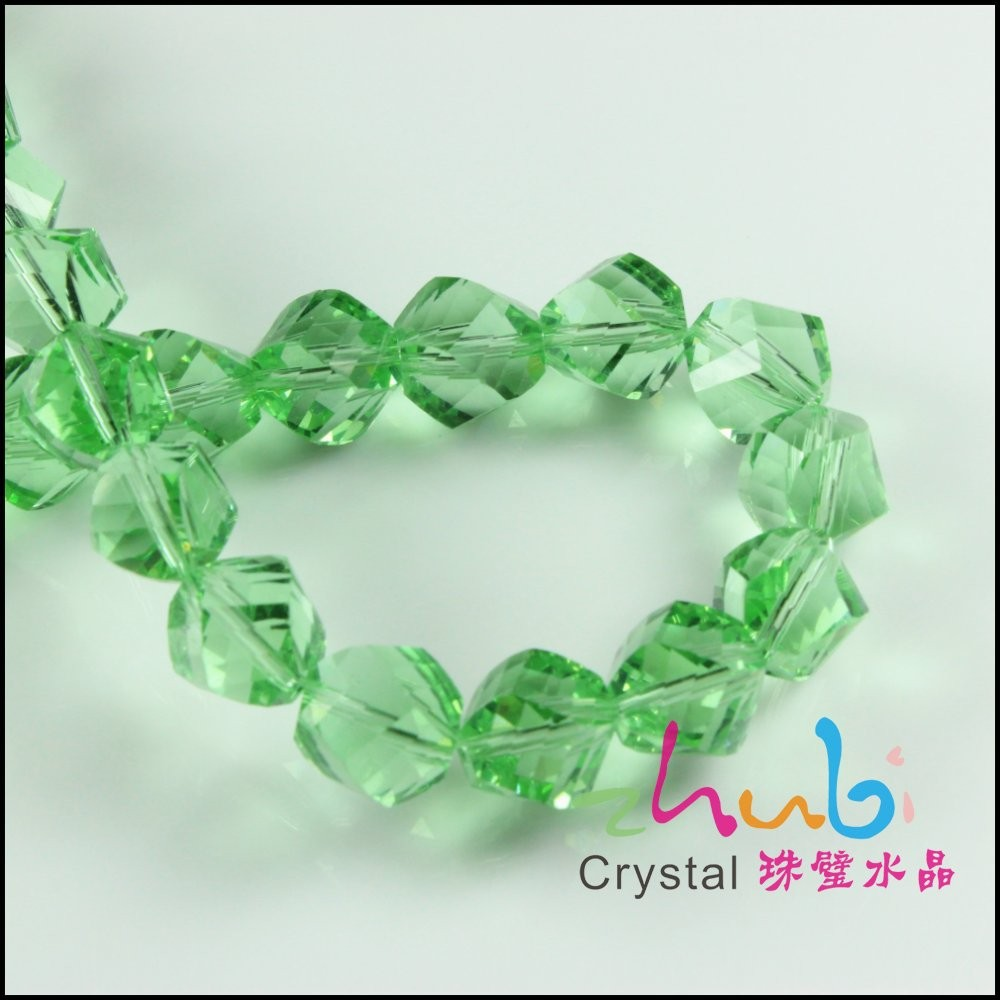 Uncommon Different Size Green Color 4MM Crystal Miyuki Beads