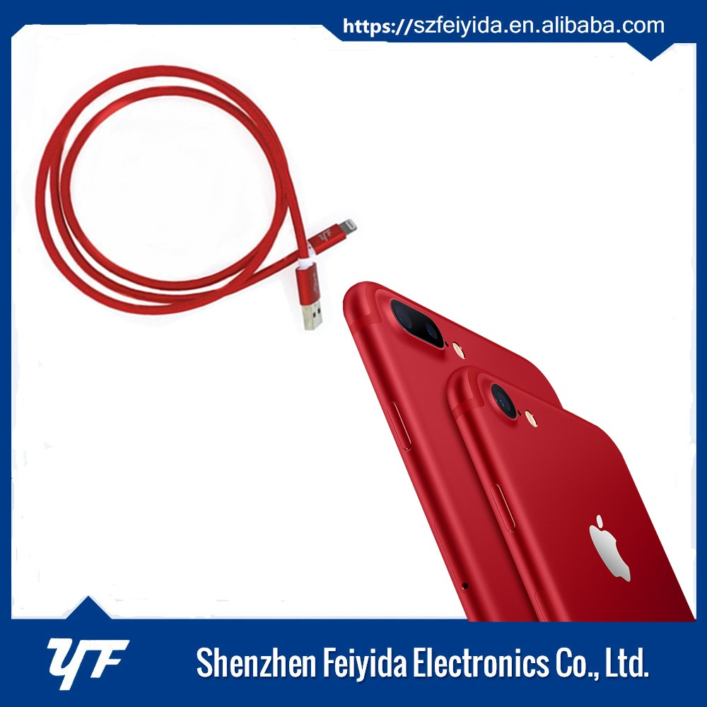 Over Original MFI case red cable for new iphone 7