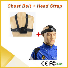 Sport Camera Accessories Harness Adjustable Elastic Chest Belt+Head Strap For Xiaomi yi Go pro Camera